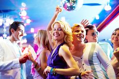 Baile en el partido Fotografía de archivo libre de regalías