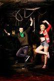 Baile en garaje fotos de archivo libres de regalías