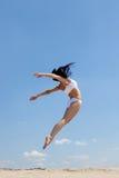 Baile en la playa Imagen de archivo libre de regalías