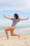 Baile en la playa Foto de archivo