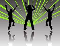 Baile en un partido foto de archivo libre de regalías