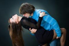 Baile encantador de los pares imagen de archivo