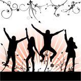 Baile feliz de la gente libre illustration