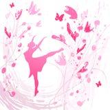Baile feliz de la mujer Fotos de archivo libres de regalías