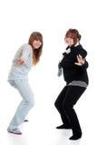 Baile femenino de dos adolescentes Fotografía de archivo