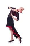 Baile femenino del bailarín Imágenes de archivo libres de regalías