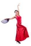 Baile femenino del bailarín Imagen de archivo