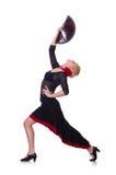 Baile femenino del bailarín Fotografía de archivo