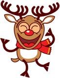 Baile fresco del reno de Navidad stock de ilustración