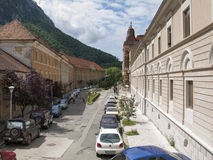 Baile Herculane -old boulevard Royalty Free Stock Image