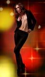 Baile hermoso de la muchacha en club nocturno Fotografía de archivo