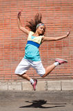 Baile hermoso hip-hop de la muchacha Imagen de archivo libre de regalías