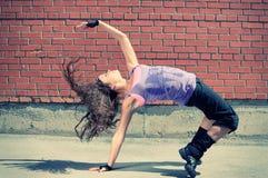 Baile hip-hop del adolescente Fotografía de archivo