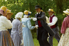 Baile histórico de los agentes Imagen de archivo libre de regalías