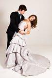 Baile joven atractivo de los pares Imagen de archivo libre de regalías