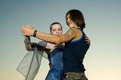 Baile joven de los adultos Fotografía de archivo libre de regalías
