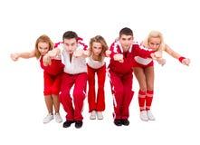 Baile joven de los bailarines del salto de la cadera Imagenes de archivo