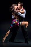 Baile joven de los pares Imagen de archivo libre de regalías