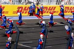 Baile la abertura del primer Grand Prix de Rusia Imagen de archivo libre de regalías