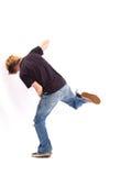 Baile a la música de un MP3 Fotos de archivo libres de regalías