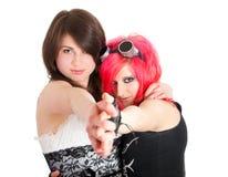 Baile lesbiano de los pares Fotografía de archivo