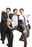 Baile loco de los hombres de negocios Foto de archivo libre de regalías