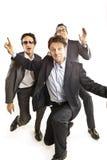 Baile loco de los hombres de negocios Fotografía de archivo