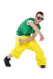 Baile masculino del breakdancer Fotografía de archivo