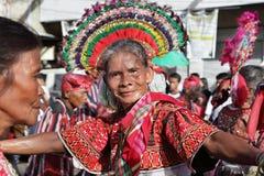 Baile mayor del festival de Filipinas Kaamulan Imágenes de archivo libres de regalías