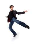 Baile moderno con estilo del ejecutante Fotografía de archivo libre de regalías