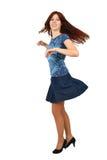 Baile pelirrojo joven de la muchacha Foto de archivo libre de regalías