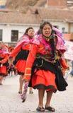 Baile peruano de la mujer en el festival Imagen de archivo libre de regalías