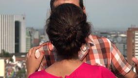 Baile romántico de los pares almacen de video