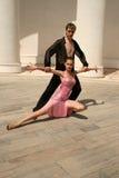 Baile romántico Fotos de archivo libres de regalías