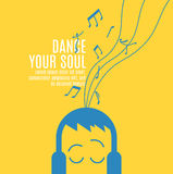 Baile su alma Foto de archivo