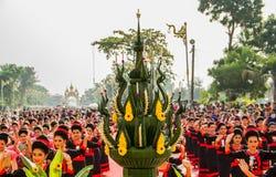 Baile tailandés a adorar Fotos de archivo libres de regalías