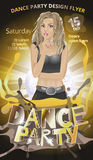 Baile, vector del aviador de la noche de las señoras Foto de archivo libre de regalías