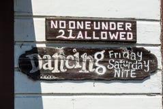 Baile, viernes y el sábado por la noche Fotos de archivo libres de regalías