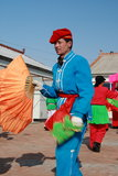 Baile Yangge en China del norte durante Año Nuevo fotografía de archivo libre de regalías