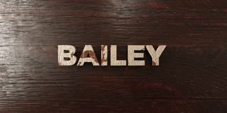 Bailey - grungy wooden headline on Maple - 3D rendered royalty free stock image. This image can be used for an online website banner ad or a print postcard stock illustration