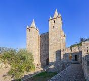 Bailey and keep of the Santa Maria da Feira Castle. Royalty Free Stock Photography