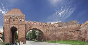 Bailey in old town of Torun, Poland Stock Photo