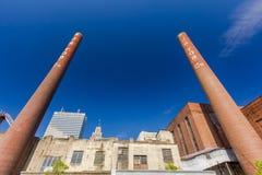 Bailey Power Plant in Winston-Salem. Bailey Power Plant in downtown Winston-Salem, North Carolina Stock Image