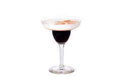 Baileys cocktail black and white royalty free stock photography