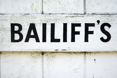 Bailiff's Royalty Free Stock Photo