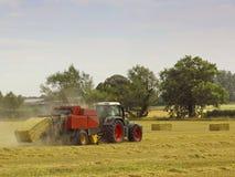 Bailing straw Stock Image