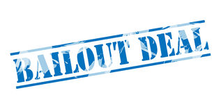 Bailout deal blue stamp. Isolated on white background royalty free illustration