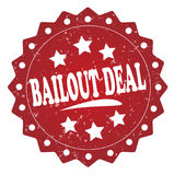 Bailout deal grunge label, sticker. Bailout deal red label, sticker isolated on white background vector illustration