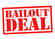 BAILOUT DEAL. Red Rubber Stamp over a white background Stock Photo