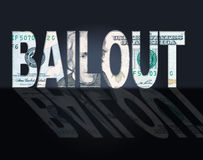 Bailout Dollars Means United States And Bailing. Bailout Dollars Representing Savings Money And Bank stock illustration